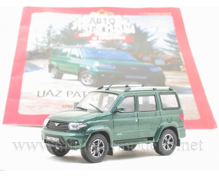 1:43 UAZ 3163 Patriot with magazine #283,  De Agostini by www.miniaturmodelle.net