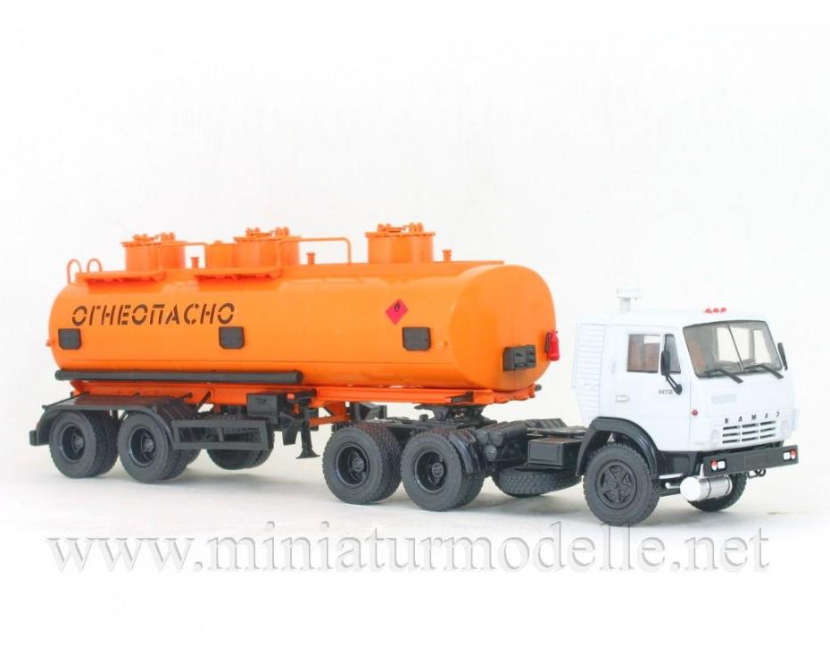 1:43 KAMAZ 54112 with tank semi NEFAZ 96742,  Auto History - Aist by www.miniaturmodelle.net