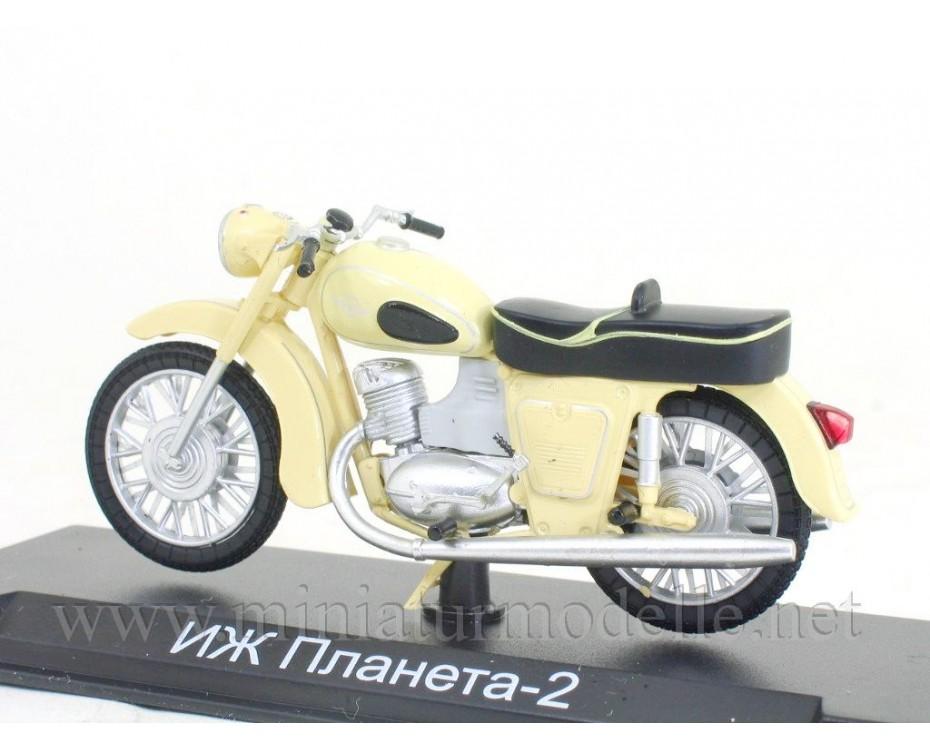 1:24 Izh Planeta 2 motorcycle with magazine #4,  Modimio Collections by www.miniaturmodelle.net