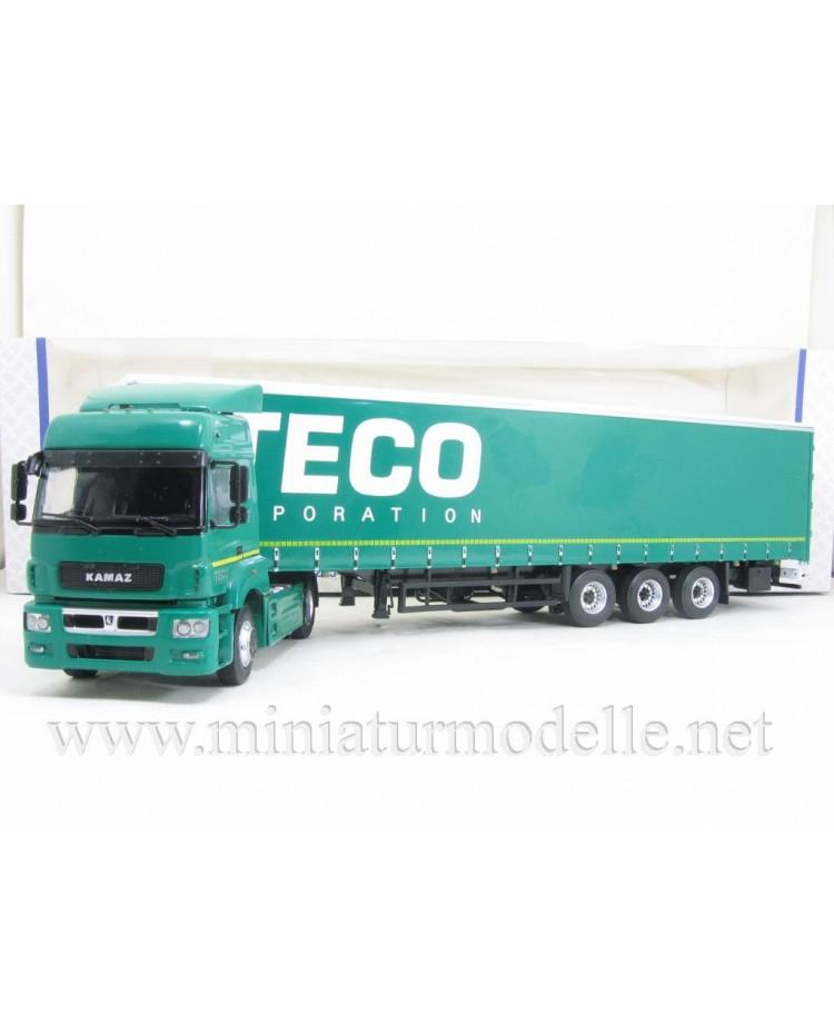 1:43 KAMAZ 5490 with NEFAZ 93341curtain canvas trailer ITECO