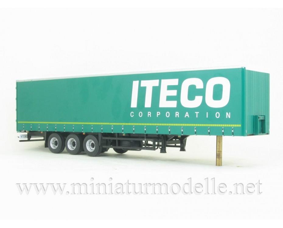 1:43 KAMAZ 5490 with NEFAZ 93341curtain canvas trailer ITECO, 102798, Auto History - Aist by www.miniaturmodelle.net