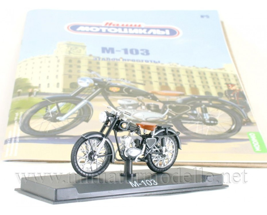 1:24 M 103 motorcycle with magazine #5,  Modimio Collections by www.miniaturmodelle.net