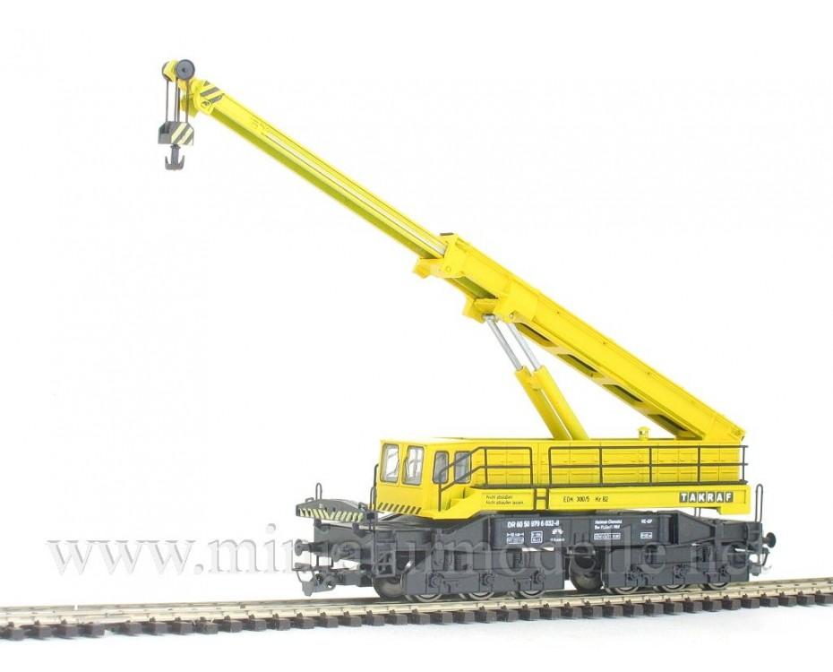 1:120 TT 4231 EDK 300 / 5 Takraf railroad crane of the DR livery, era 4, 4231, Peresvet by www.miniaturmodelle.net