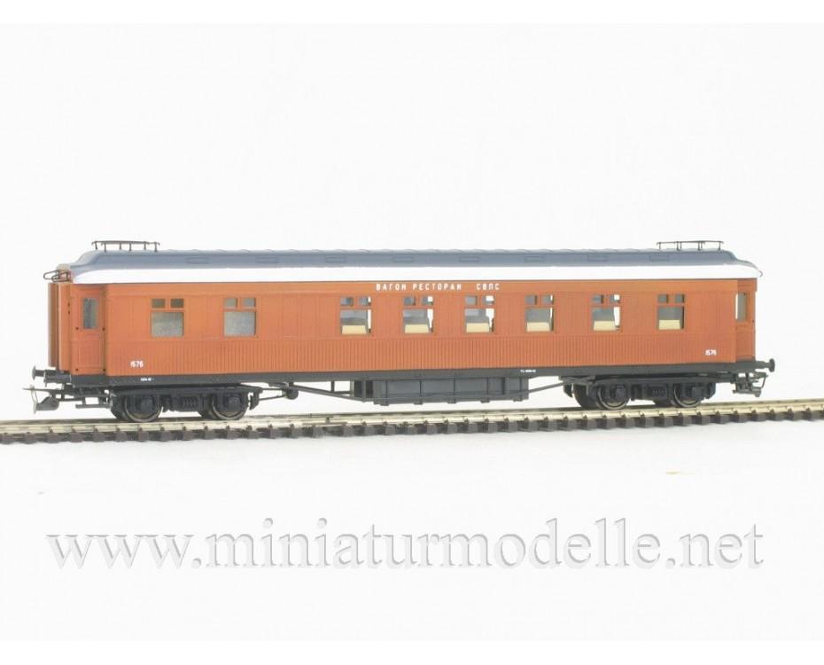 1:120 TT 2402 Passanger car set type CIWL, dining and sleeping car, SZD era 3, unique edition, 2402, Peresvet by www.miniaturmodelle.net