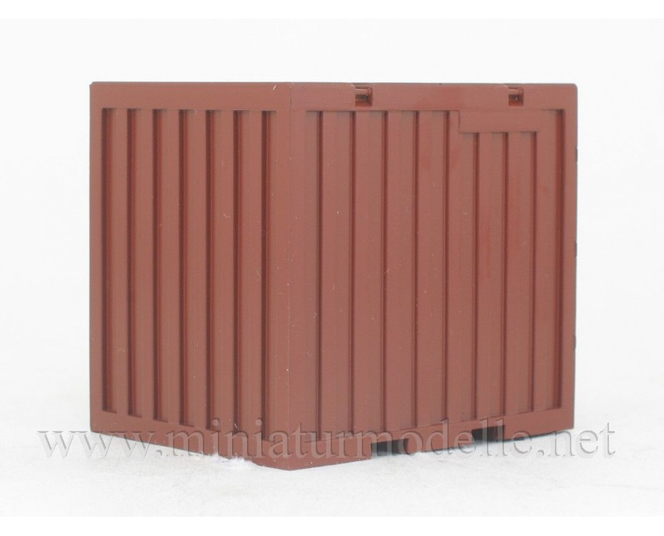 1:43 Container 5T, brown, 100120, Start Scale Models - SSM by www.miniaturmodelle.net