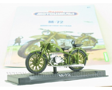 1:24 M 72 motorcycle military with magazine #7