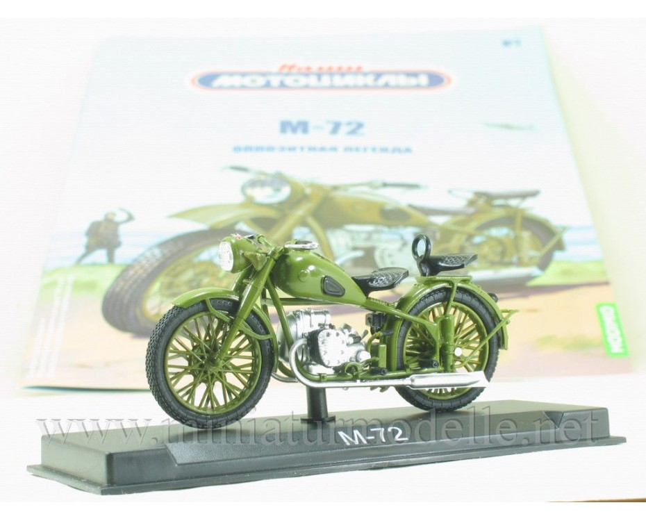 1:24 M 72 motorcycle military with magazine #7,  Modimio Collections by www.miniaturmodelle.net
