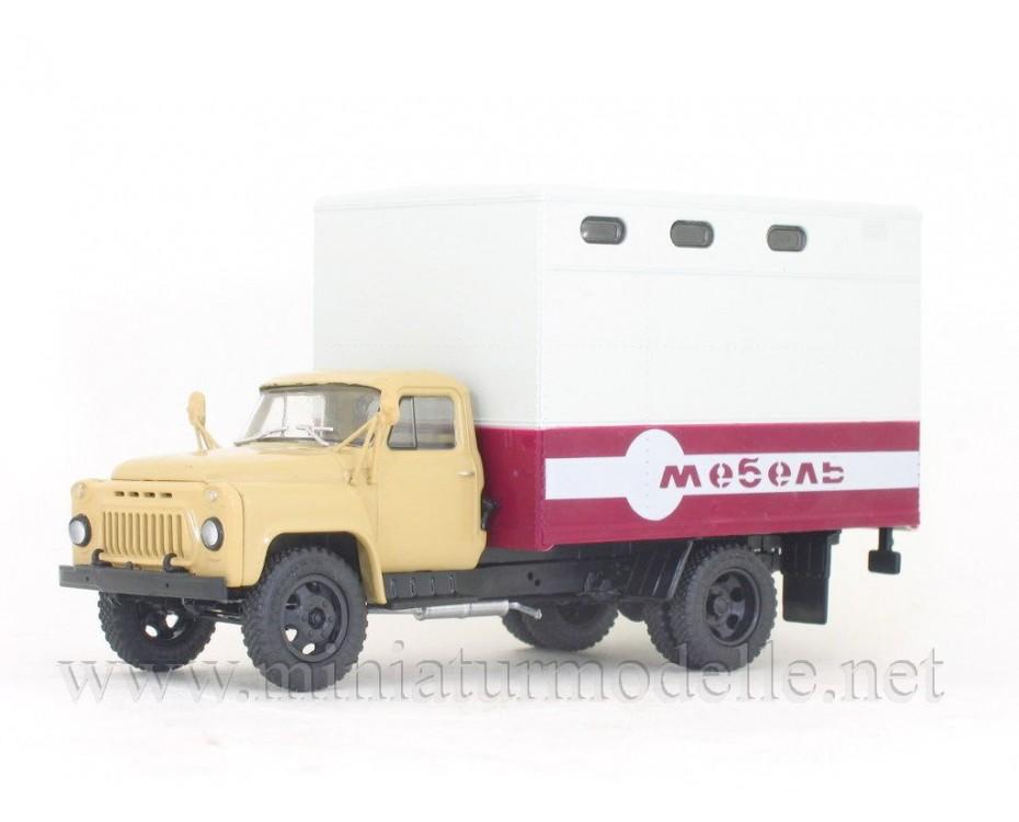 1:43 GAZ 52 furniture truck GZSA 893 A with magazine #42,  Modimio Collections by www.miniaturmodelle.net