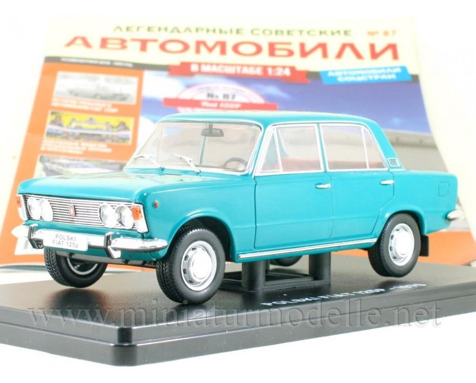 1:24 Polski Fiat 125 P with magazine #87,  Hachette by www.miniaturmodelle.net