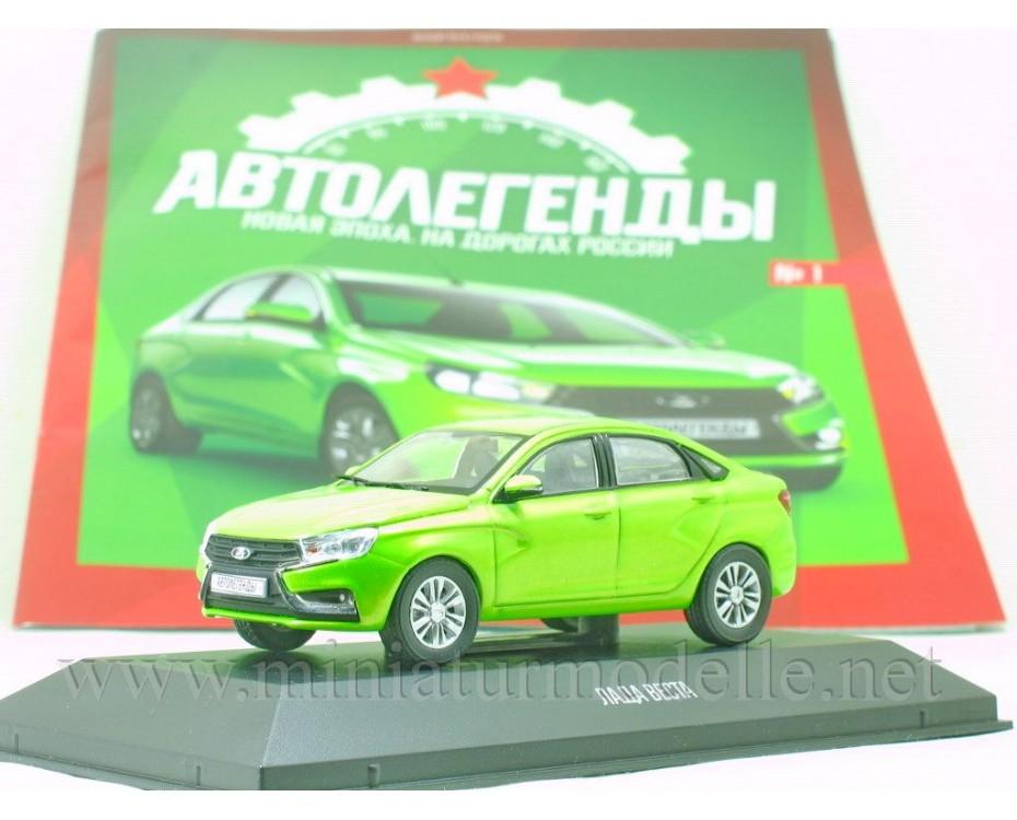 1:43 Lada Vesta with magazine #1,  De Agostini by www.miniaturmodelle.net