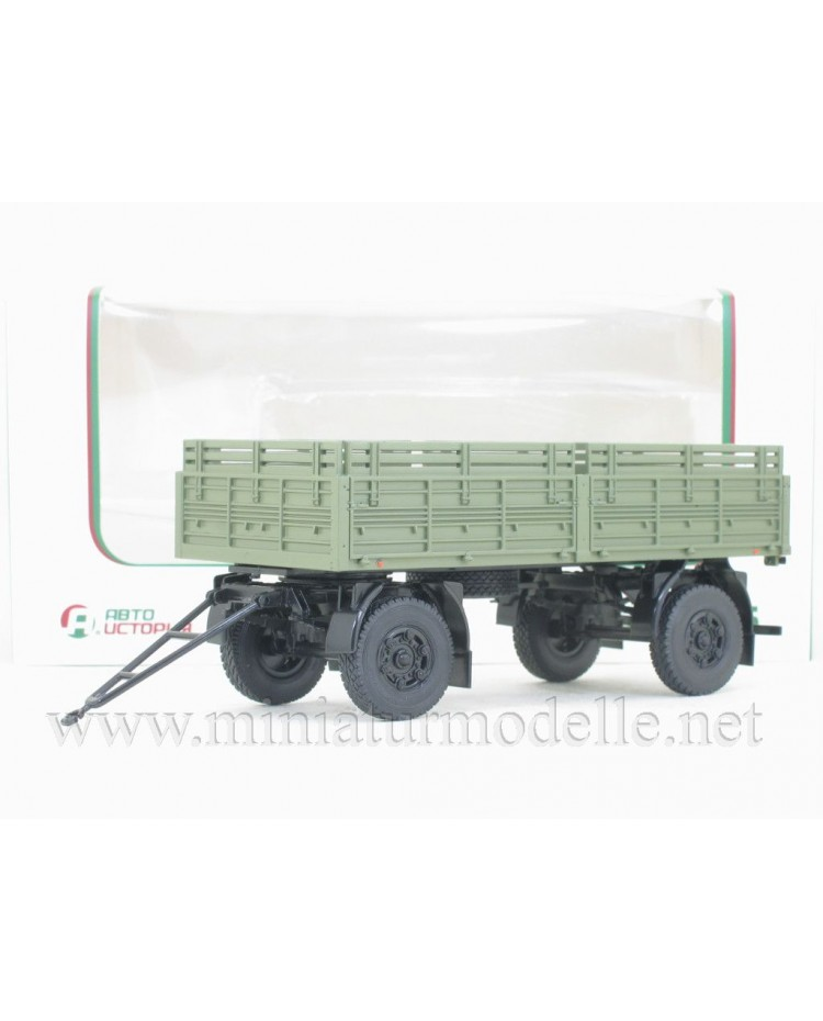 1:43 MAZ 8926 load platform trailer with high body, military