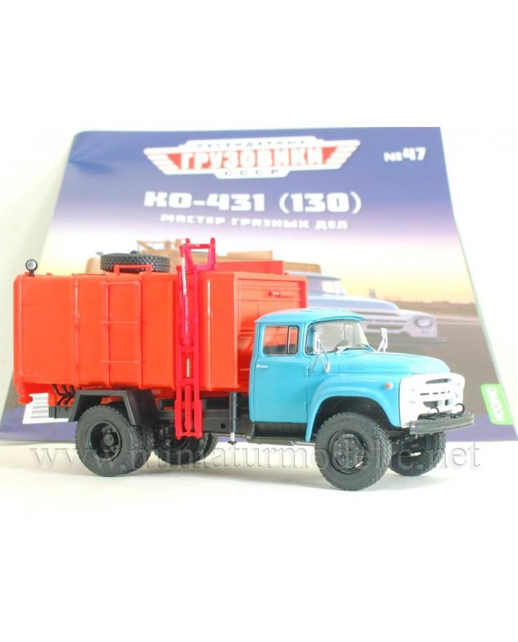 1:43 ZIL 130 Garbage truck KO 431 with magazine #47