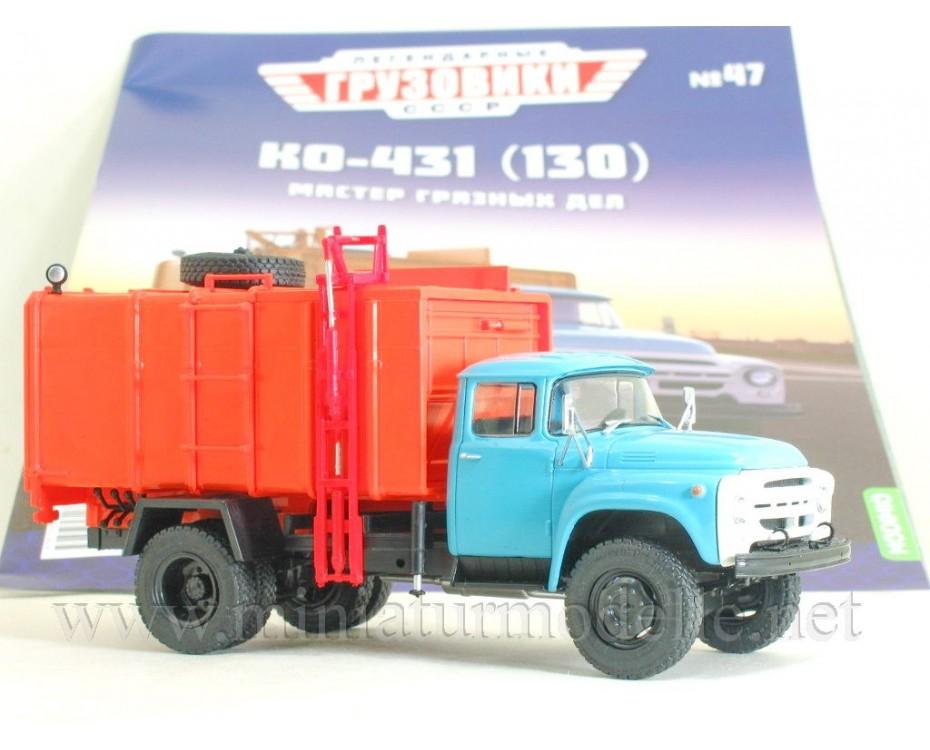 1:43 ZIL 130 Garbage truck KO 431 with magazine #47,  Modimio Collections by www.miniaturmodelle.net