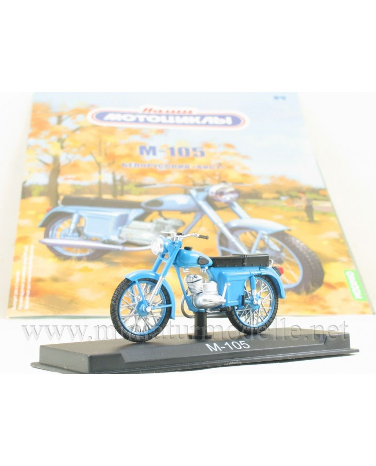1:24 M 105 Minsk motorcycle with magazine #9