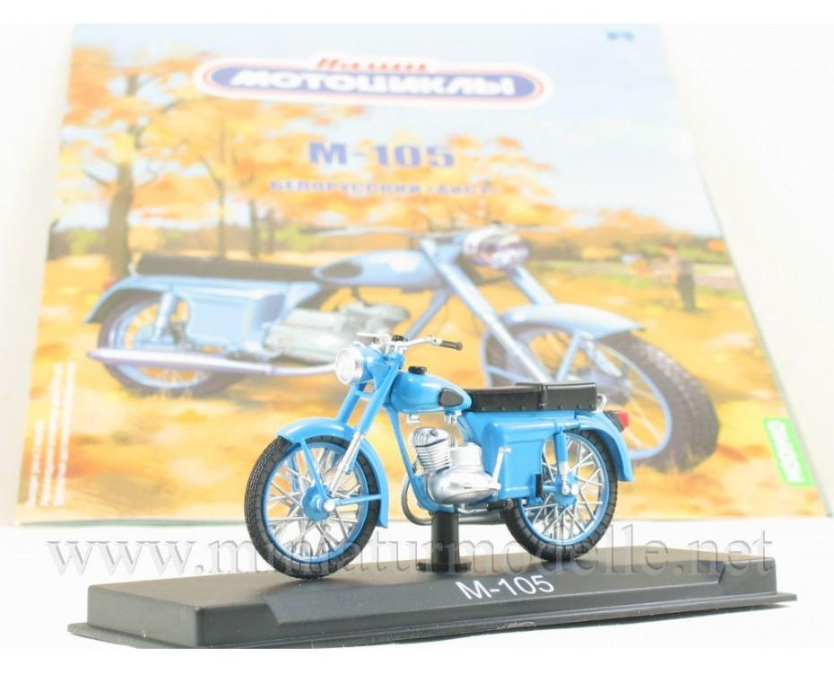 1:24 M 105 Minsk motorcycle with magazine #9,  Modimio Collections by www.miniaturmodelle.net
