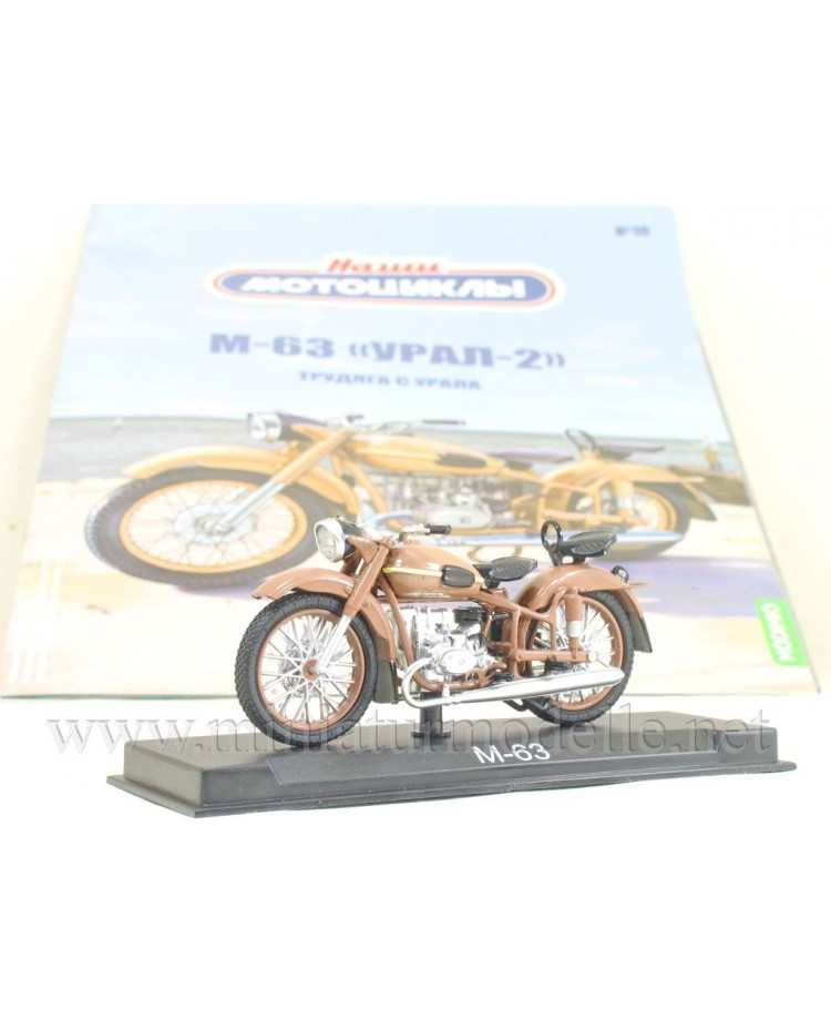 1:24 M 63 Ural 2 motorcycle with magazine #10