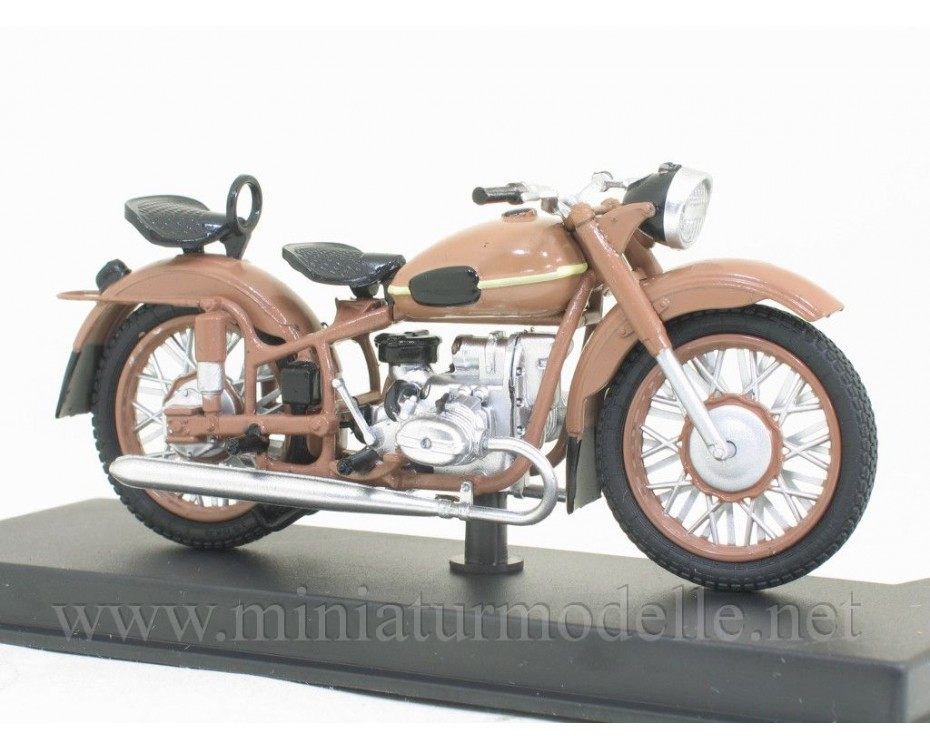 1:24 M 63 Ural 2 motorcycle with magazine #10,  Modimio Collections by www.miniaturmodelle.net