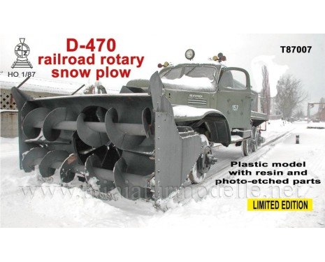 H0 1:87 ZIL 157 Railroad rotary snow plow D 470, kit