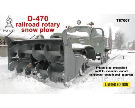 H0 1:87 ZIL 157 Eisenbahn Schneefräse D 470