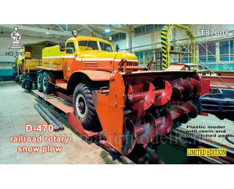 H0 1:87 ZIL 157 Road- rail rotary snow plow D 470, kit