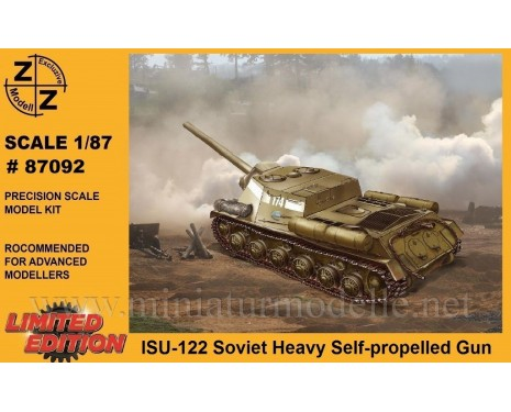 H0 1:87 ISU-122 Soviet heavy self propelled gun, military, small batches model