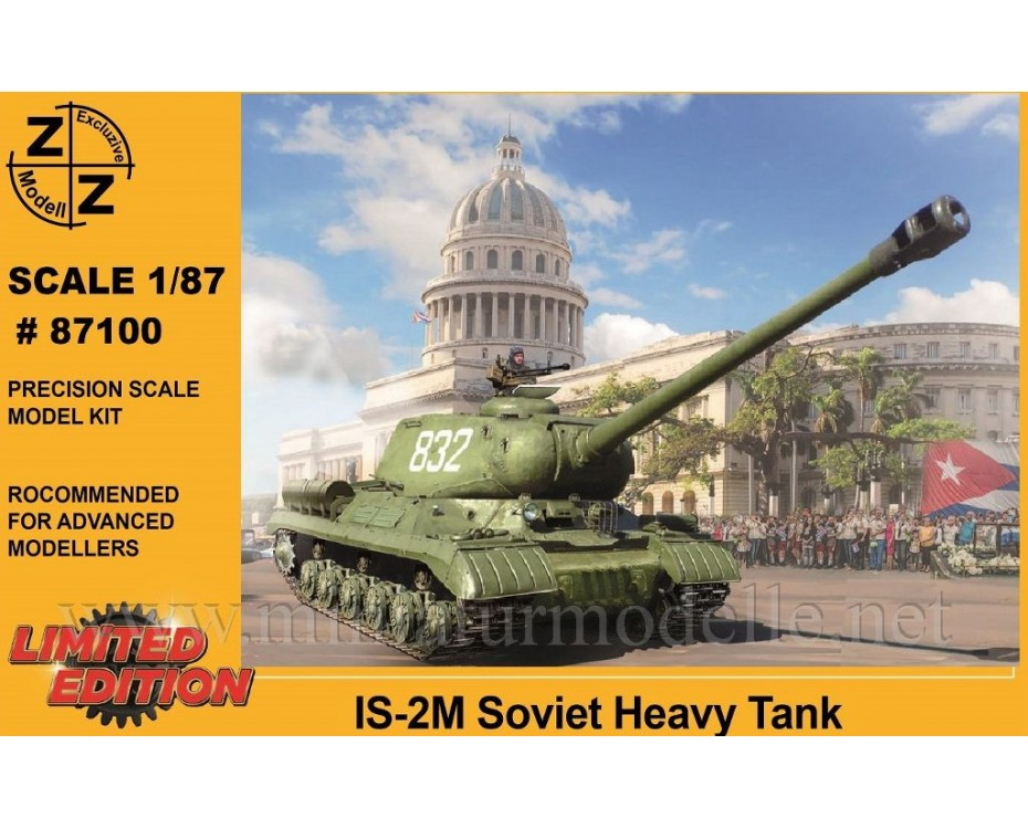 H0 1:87 IS-2M Soviet heavy tank, military, small batches model