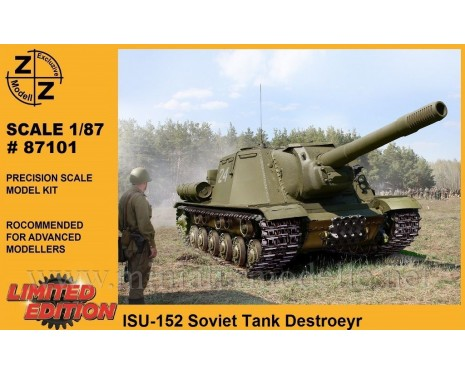 H0 1:87 ISU-152 Soviet tank destroyer, military, small batches model