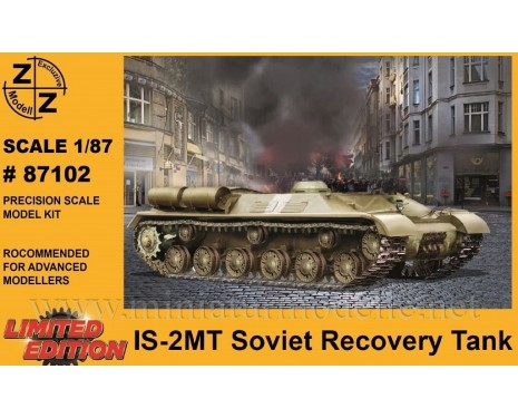 H0 1:87 IS-2MT recovery tank, military, small batches model