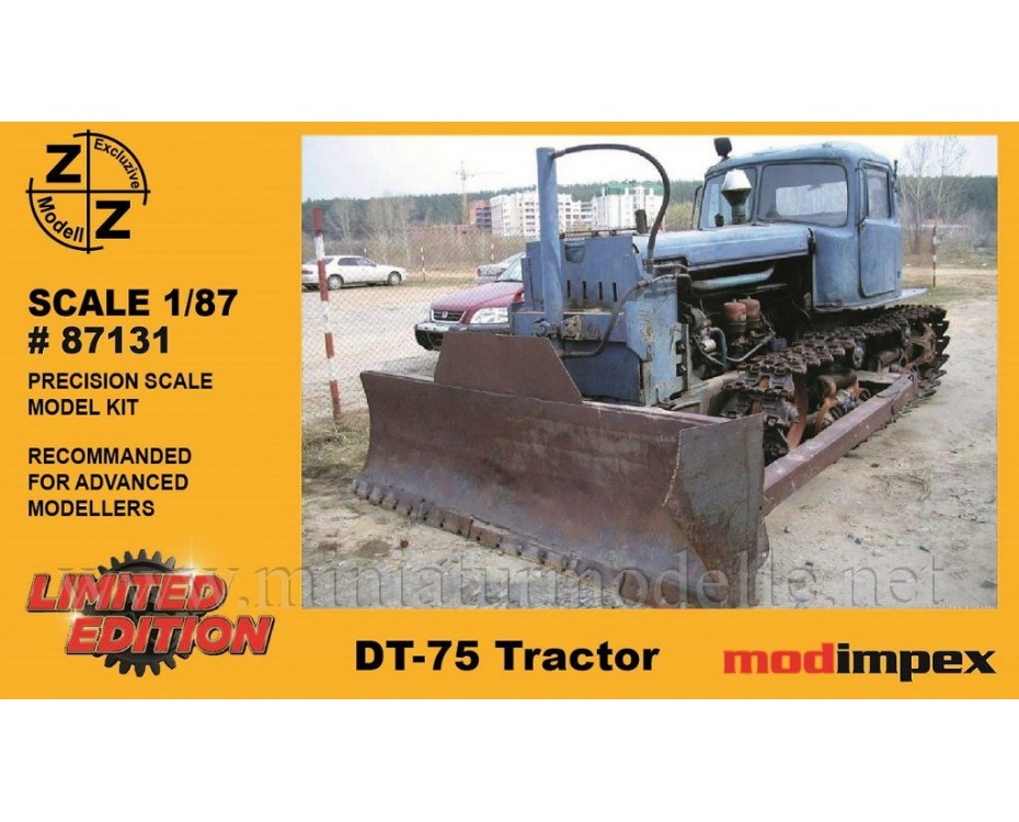 H0 1:87 DT 75 buldozer, small batches model