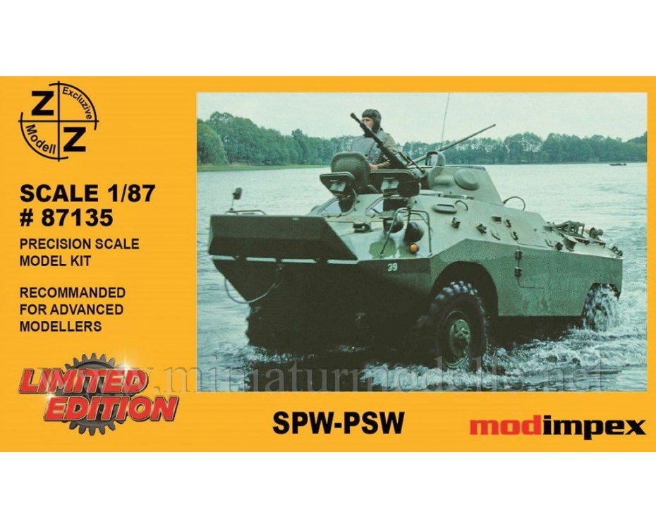 H0 1:87 SPW D-944 PSZH amphibious armoured patrol car, small batches model kit