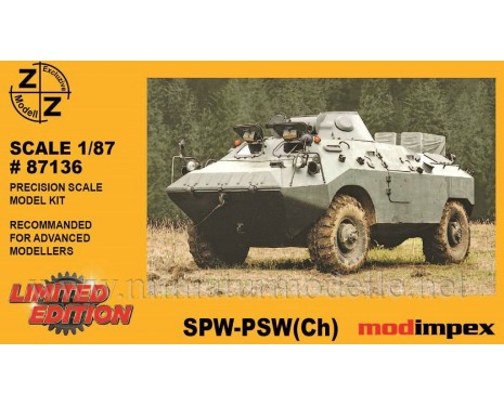 H0 1:87 SPW PSZH APC amphibious armoured patrol car, small batches model kit