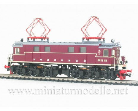 1:87 H0 Electric locomotive class VL 19 cherry of the Polarny livery, CCCP, Ep. 3