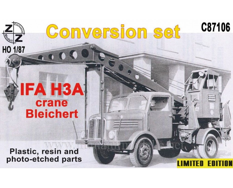 H0 1:87 IFA H3A Crane Bleichert, small batches conversion kit, C87106, Z&Z Exclusive Modell by www.miniaturmodelle.net