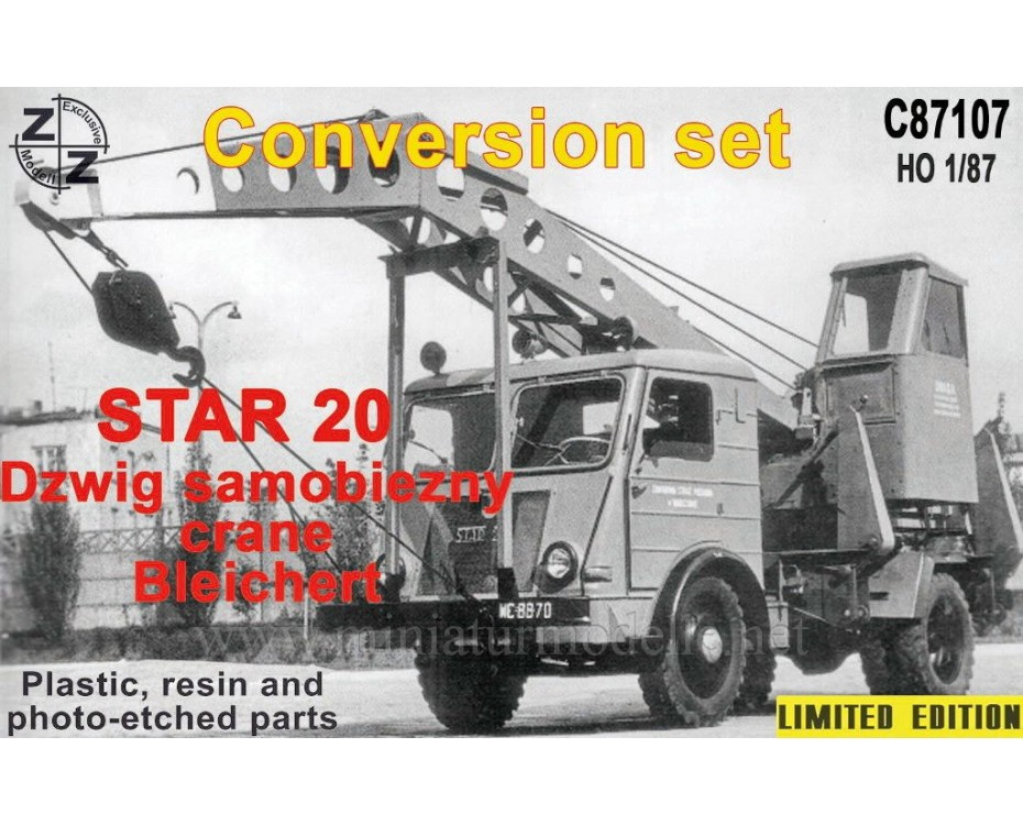 H0 1:87 Star 20 Crane Bleichert, small batches conversion kit, C87107, Z&Z Exclusive Modell by www.miniaturmodelle.net