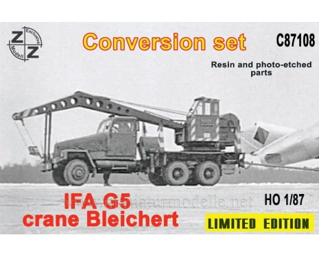 H0 1:87 IFA G5 Crane Bleichert, small batches conversion kit