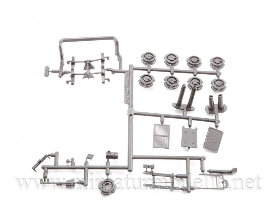 1:43 KAMAZ 6560 Load platform canvascover, military kit, 1436AVD, AVD Models by www.miniaturmodelle.net