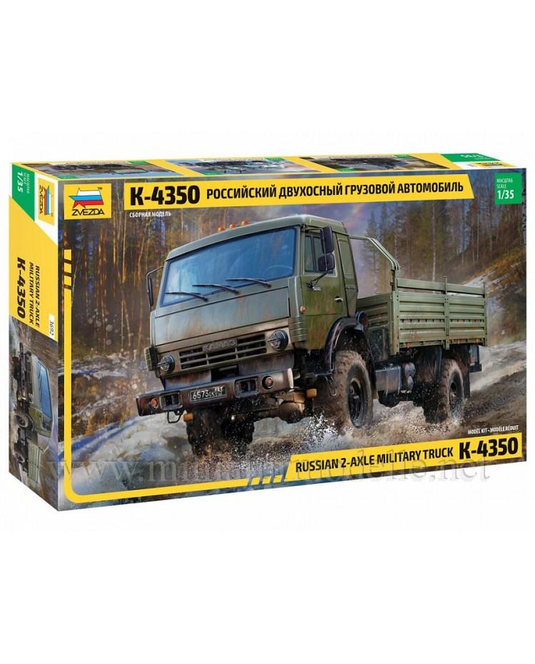 1:35 KAMAZ 4350 load platform canvascover, kit