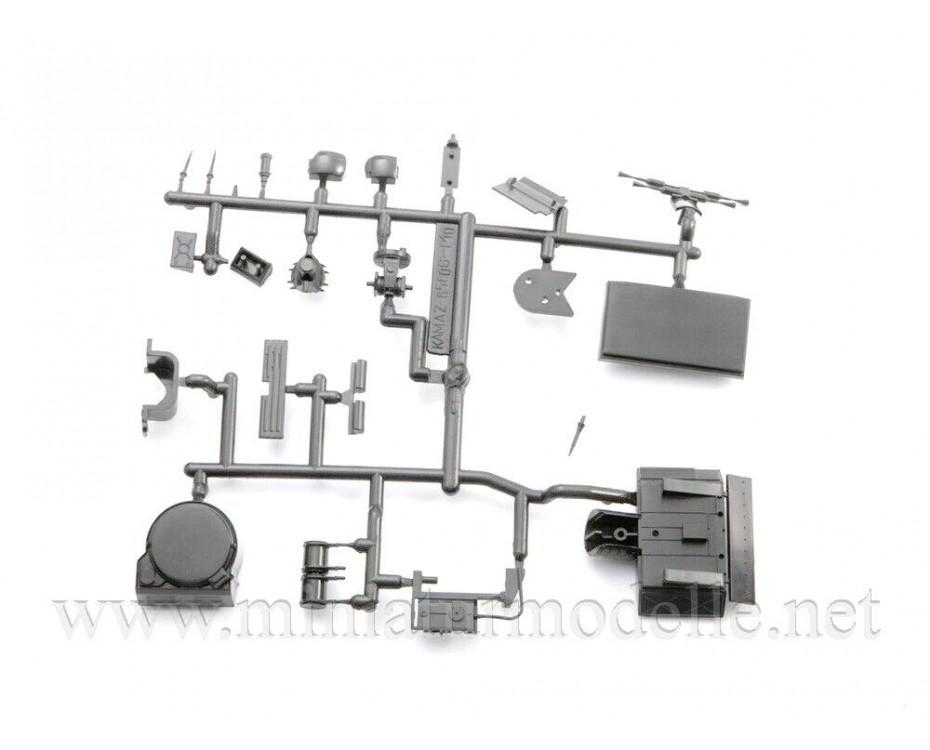 1:43 KAMAZ 6560 Pantsir S1 SA-22 Greyhound missile system, military kit, 1437AVD, AVD Models by www.miniaturmodelle.net