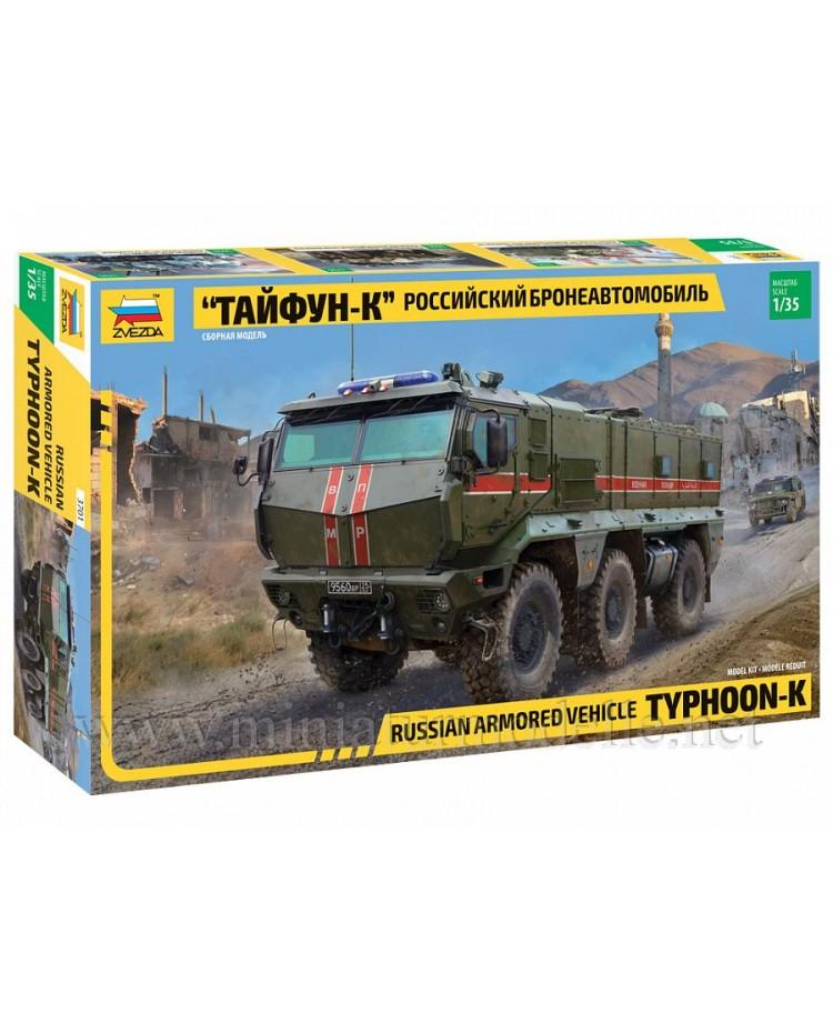 1:35 KAMAZ 63968 Typhoon K Russian multi-functional, modular, armoured MRAP vehicle, kit