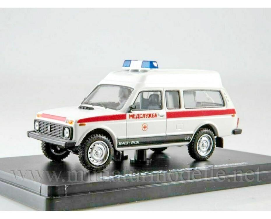 1:43 VAZ 2131-05 Ambulance, small batches model, LST006, Lastochka by www.miniaturmodelle.net