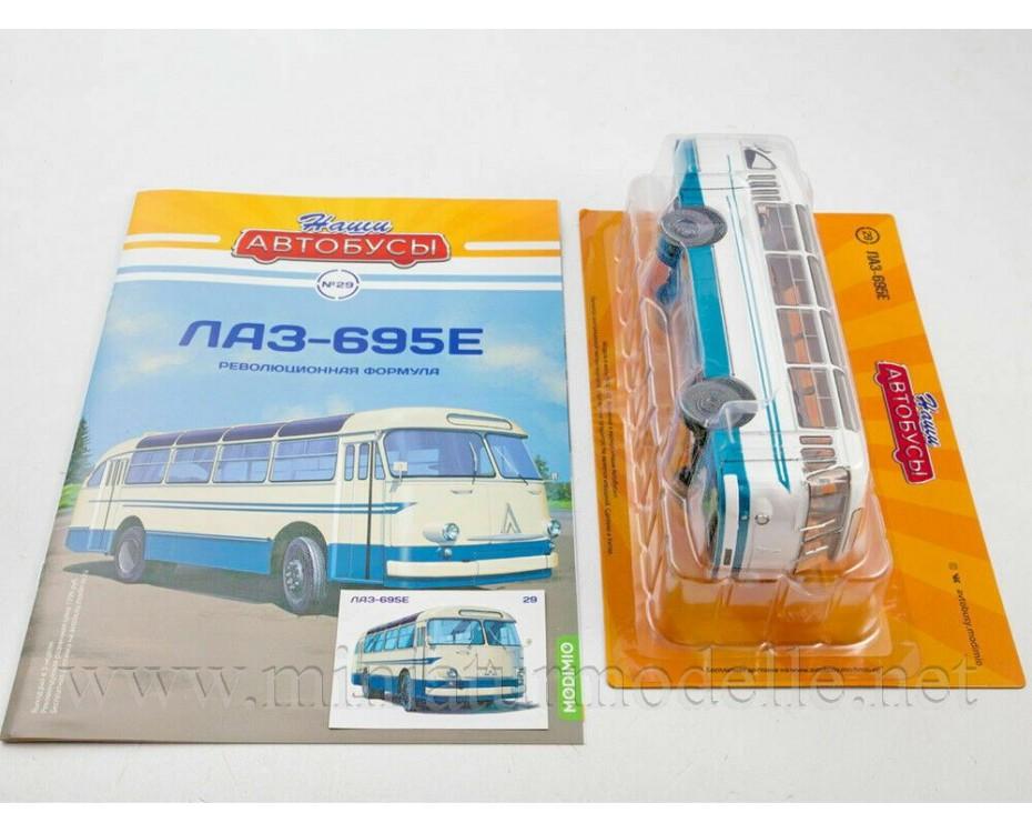 1:43 LAZ 695 E Bus with magazine #29,  Modimio Collections by www.miniaturmodelle.net