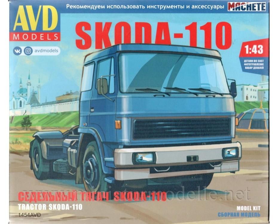 1:43 LIAZ 110 Skoda tractor unit, kit, 1454AVD, AVD Models by www.miniaturmodelle.net