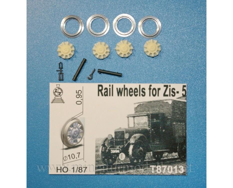 1:87 H0 Rail wheels D 10,7 mm for ZIS 5 truck, small batches model, T87013, Z&Z Exclusive Modell by www.miniaturmodelle.net