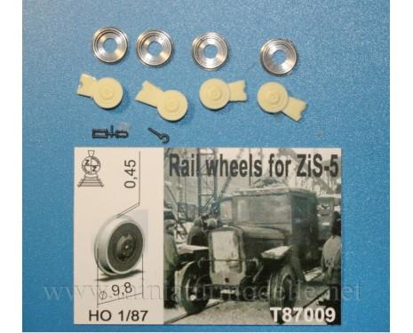 1:87 H0 Rail wheels D 9,8 mm for ZIS 5 truck, small batches model