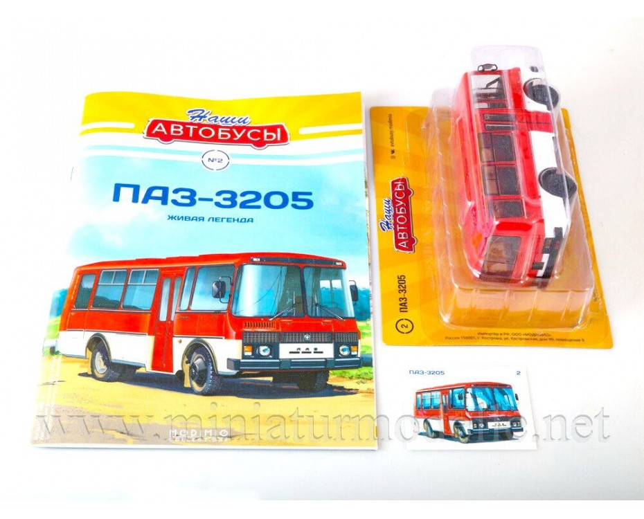 1:43 PAZ 3205 bus with magazine #2,  Modimio Collections by www.miniaturmodelle.net