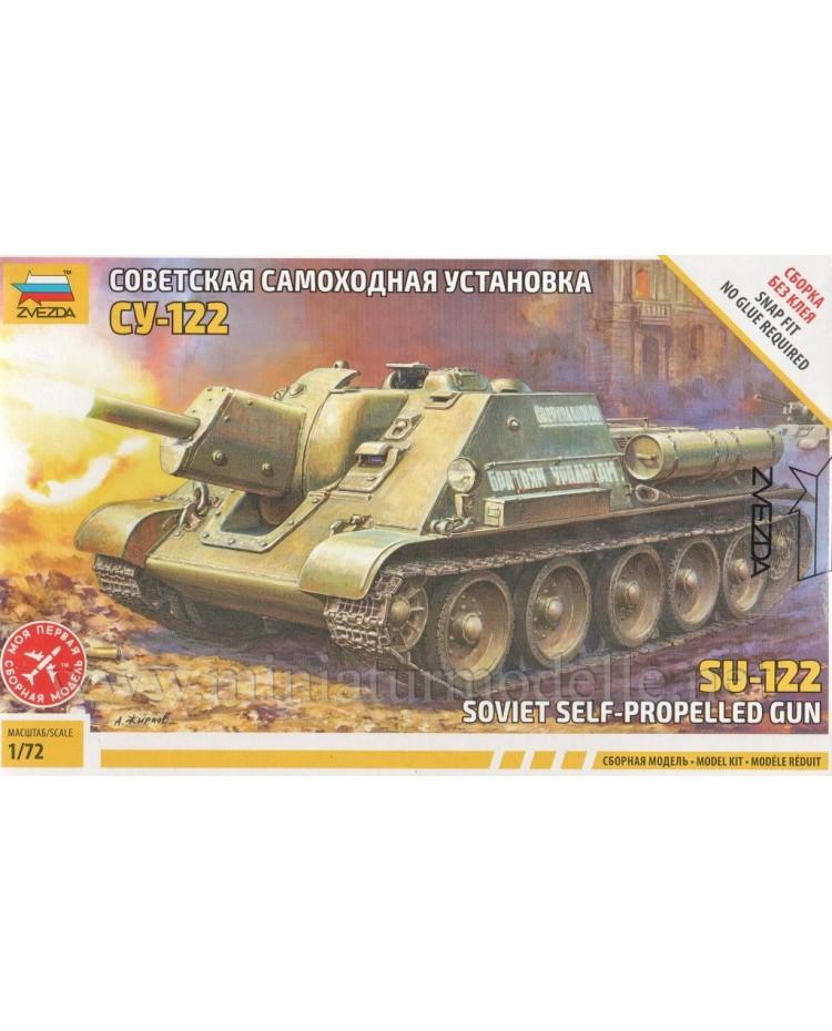 1:72 SU 122 Soviet self-propelled gun, kit