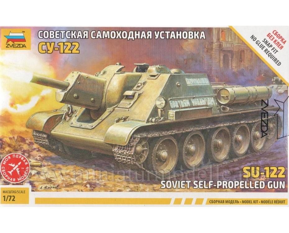 1:72 SU 122 Soviet self-propelled gun, kit, 5043, Zvezda by www.miniaturmodelle.net