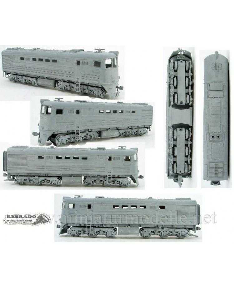 1:87 H0 TE 3 / 7 soviet two unit diesel-electric locomotive, SZD, 3-4 era, dummy small batches model kit