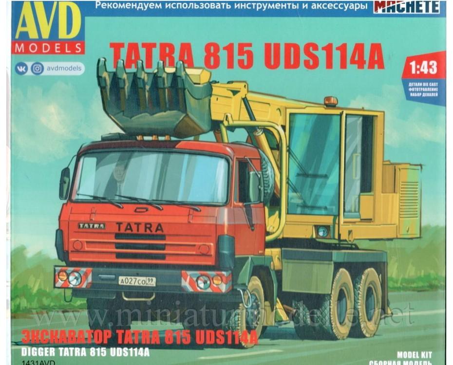 1:43 Tatra 815 digger UDS114A, kit, 1431AVD, AVD Models by www.miniaturmodelle.net