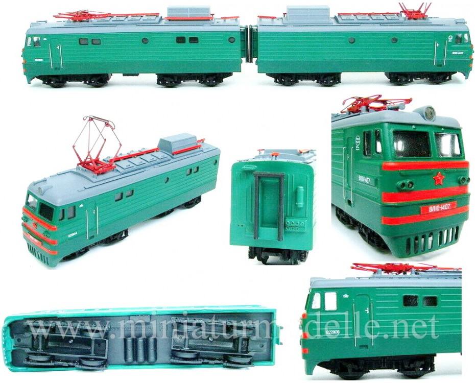1:87 H0 VL 10 electric two-unit freight locomotive, SZD - RZD, 4 - 5 era, dummy small batches model kit,  REBRADO by www.miniaturmodelle.net